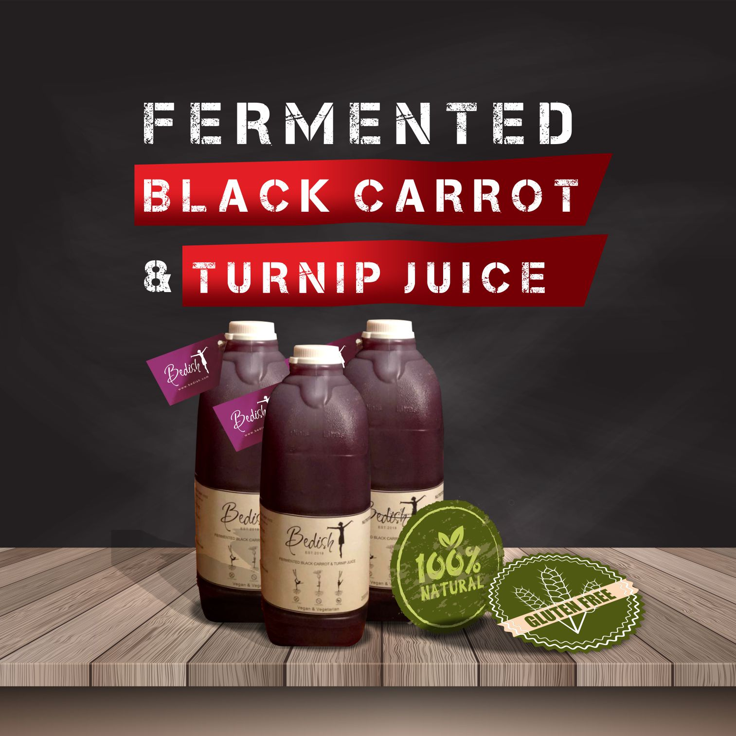 Fermented Black Carrot & Turnip Juice