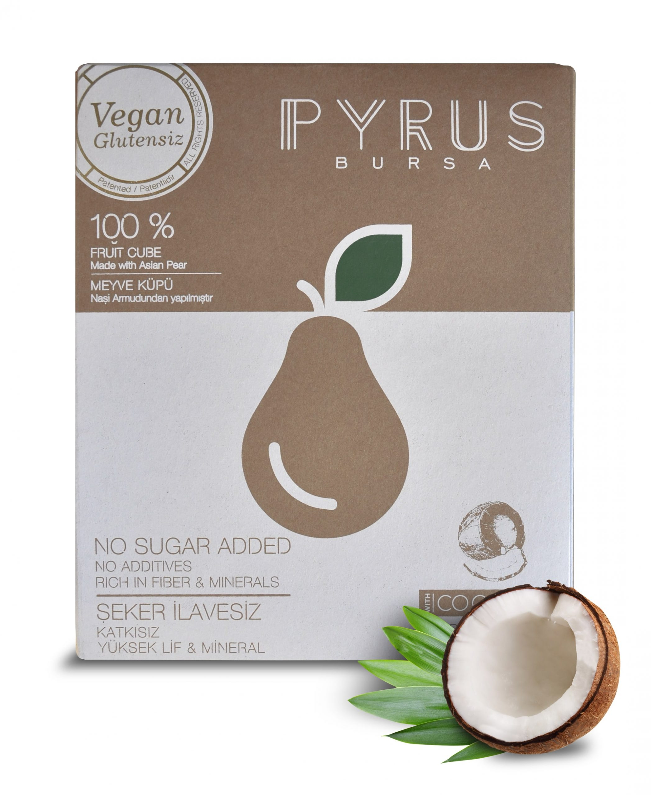 PYRUS 100% Natural Fruit Cube Delights with Coconut Flavour
