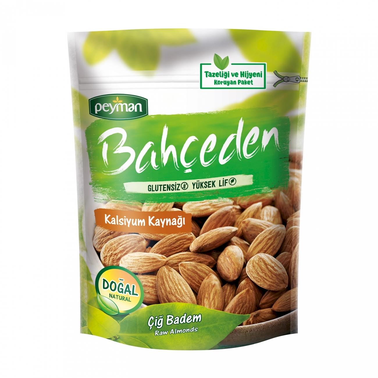 Peyman Kernels Natural Raw Almond Gluten Free 120 gr