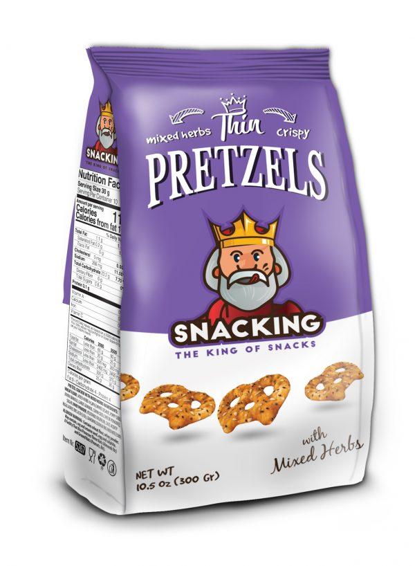 Snacking Pretzel Thins Mix Herbs 300g