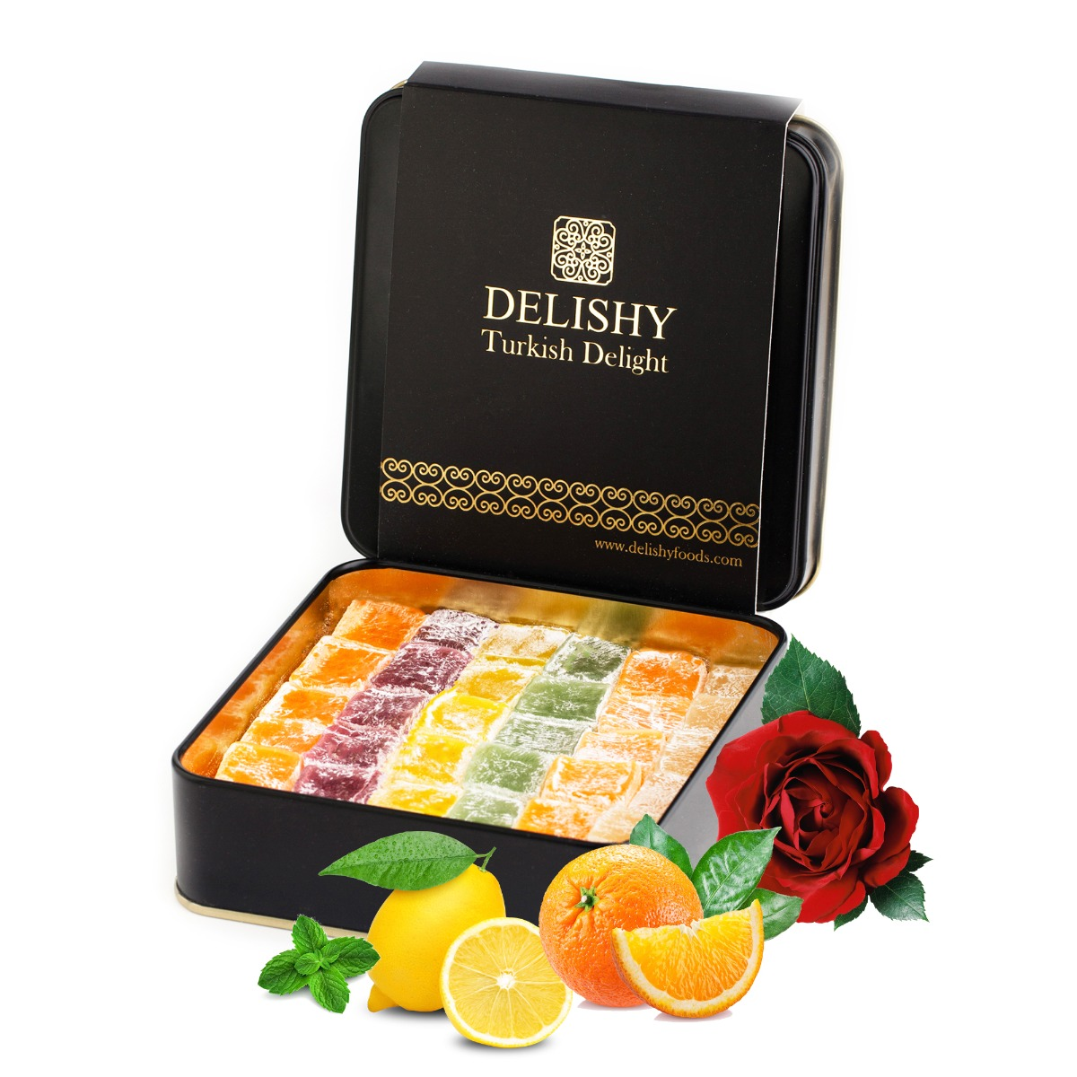 Delishy Fruity Mix Turkish Delight – 100% Natural (300gr)