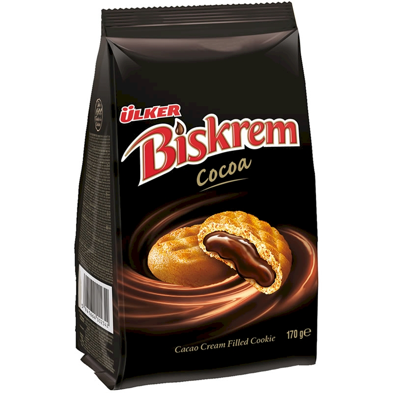 Ulker Biskrem Cocoa Biscuits Bag 170 gr